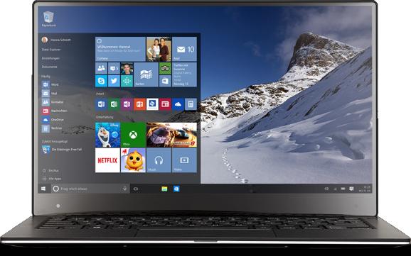 Wndows 10 auf dem Notebook (Bild: Microsoft)