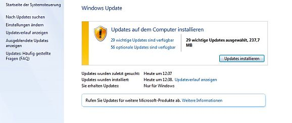 Windows Update (Bild: ZDNet.de)
