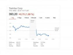 Toshibas Aktienfall (Screenshot: ZDNet.de)