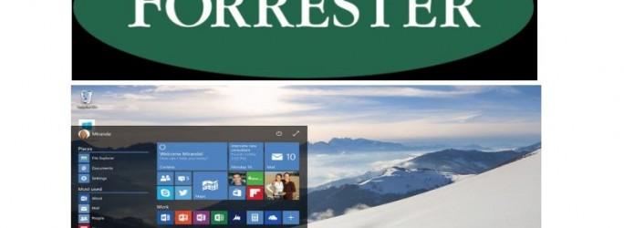 Forrester Windows 10 (Bilder: Forrester und Microsoft)