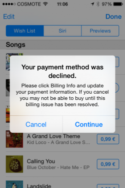 "iTunes-Greece (Screenshot: <a href=""https://twitter.com/innov8rX/status/616156771925803008/photo/1"" target=""_blank"">Sotiris B via Twitter</a>)."
