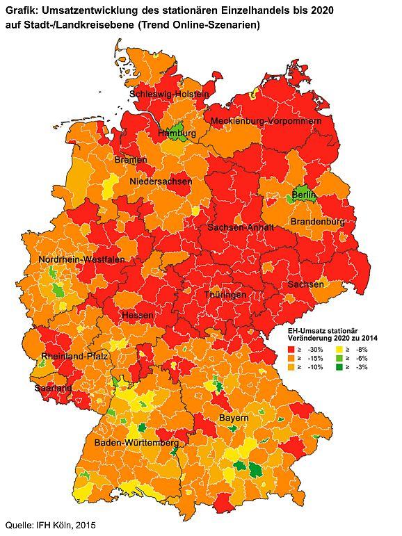 Ladensterben in Deutschland (Bild: IFH Köln)