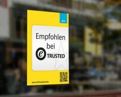 eTrusted-Aufkleber Ladeneingang (Bild: Trusted Shops)