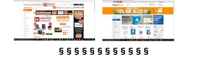 Ssoftwareilliger.de gegen Notebooksbilliger.de (Bild: Channelbiz.de)