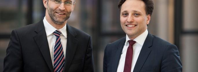 rohde-schwarz-Reik Hesselbarth (links) und Ammar Alkassar (rechts)