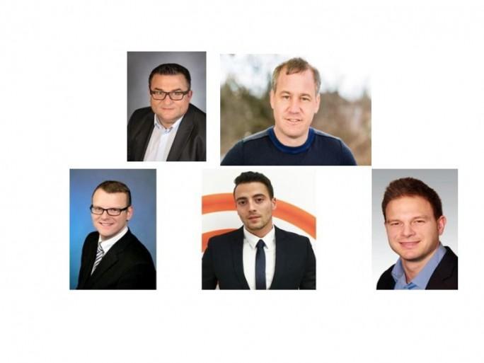 Sysob-GF, Distr-Chef, 3 Channel-manager (Fotos: Sysob, Zusammenstellung: Channelbiz.de)