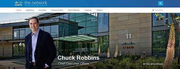 Will Ciscos Angebot schnell ins Breitbildformat setzen: CEO Chuck Robbins. (Foto: Cisco)