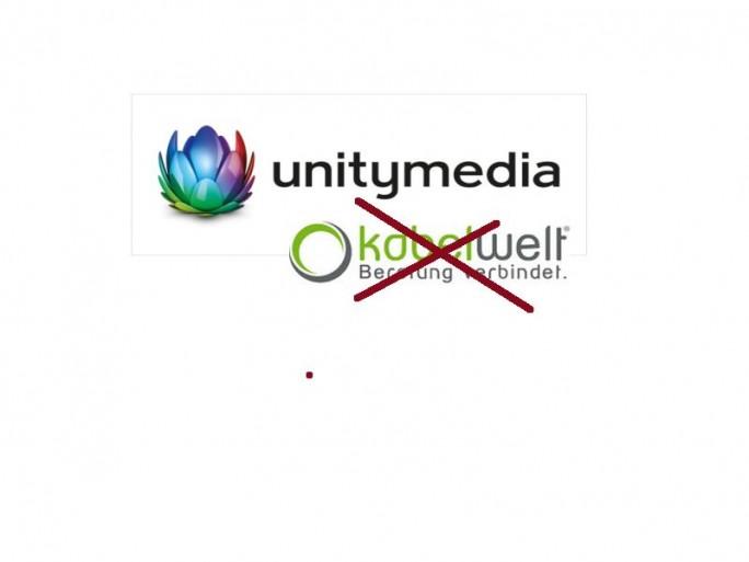 Unitymedia ohne Kabelwelt (Logozusammenstellung: Channelbiz.de. Logos: Unitymedia und Kabelwelt)