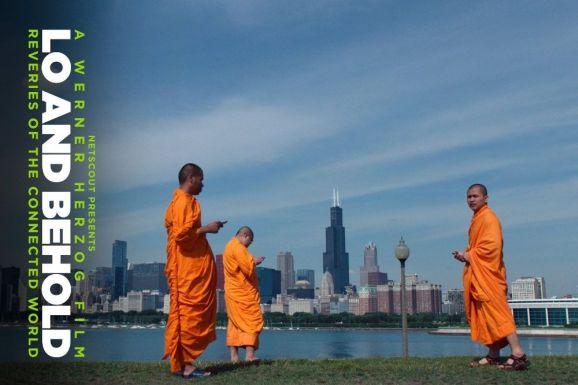 """""""Die Mönche haben aufgehört zu meditieren. Sie scheinen alle zu tweeten"""" (Auszug aus """"Lo and Behold"""". Bild: Netscout)."""