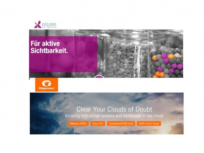 Exclusive vertreibt Gigamon (Screenshot-Kombi: channelbiz.de)