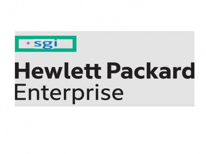 HPE schluckt SGI (Logos: HPE und SGI)