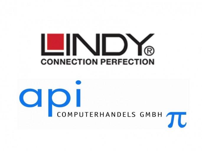 Lindy im api-Vertrieb (Logo-Zusammenstellung: channelbiz.de)